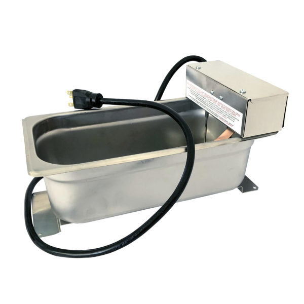 evaporation pan with molded cord