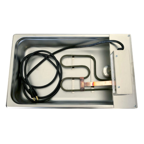 evap pan with molded cord and double loop heating element